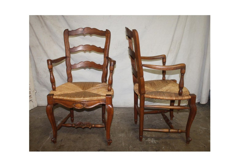 Pair of Early 20th Century French Provencal Armchairs In Good Condition For Sale In Atlanta, GA