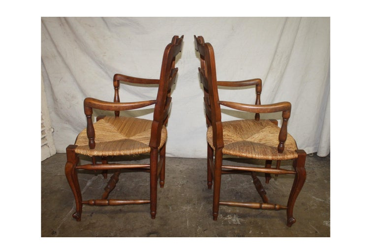 Pair of Early 20th Century French Provencal Armchairs For Sale 1