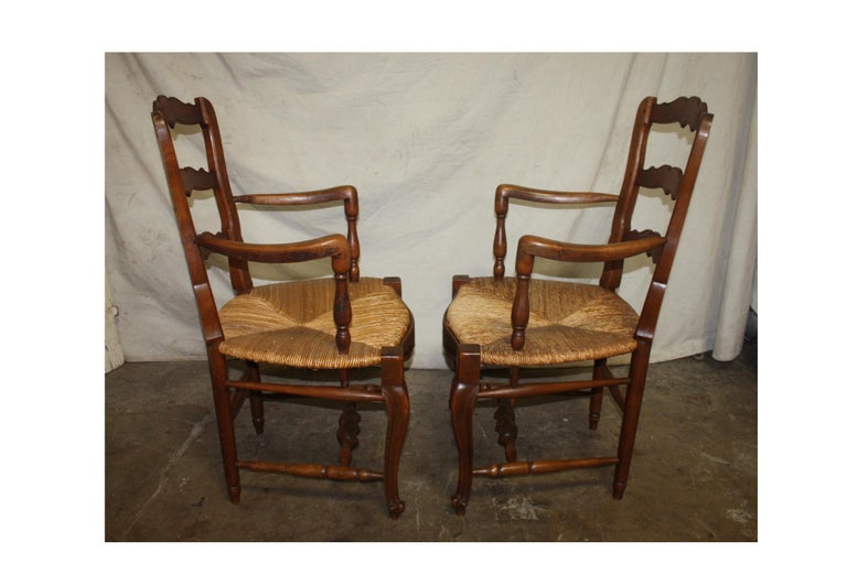Pair of Early 20th Century French Provencal Armchairs For Sale 2