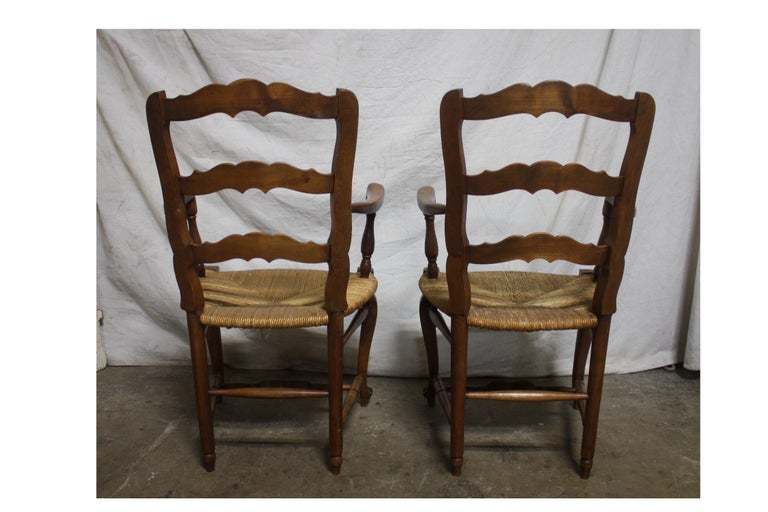 Pair of Early 20th Century French Provencal Armchairs For Sale 3