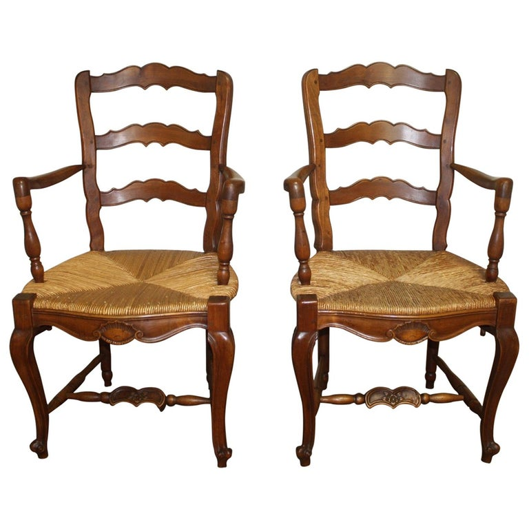Pair of Early 20th Century French Provencal Armchairs For Sale