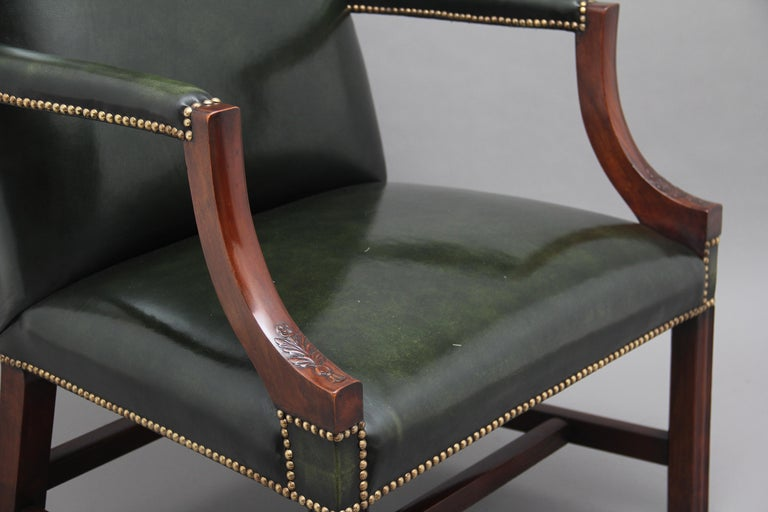 Pair of Early 20th Century Gainsborough Armchairs For Sale 2