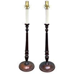 Pair of Early 20th Century George III Style Candlesticks as Lamps