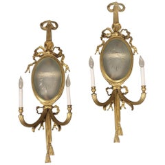 Pair of Early 20th Century Gilt Bronze Four Light Sconces