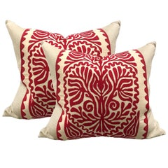 Pair of Early 20th Century Hungarian Folk Art Pillows