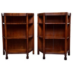 Pair of Early 20th Century Italian Walnut Étagères