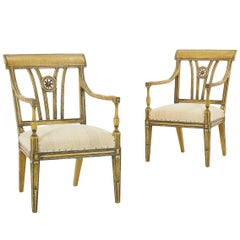 Pair of Early 20th Century Painted Chairs