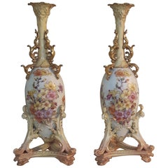 Pair of Early 20th Century Rudolfstadt Vases