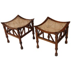 Pair of Early 20th Century Thebes Stools