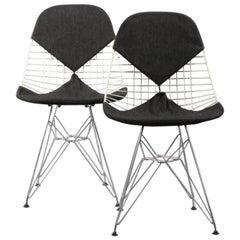 Ein Paar Frühe Bikini Stühle von Charles & Ray Eames DKR Esszimmerstühle