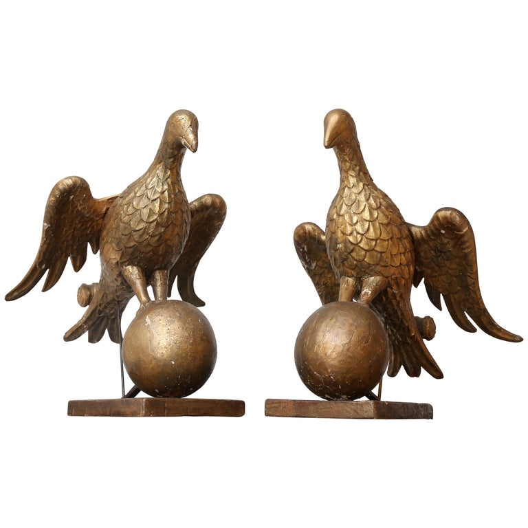 Pair of Early Book Stands Carved as Doves For Sale