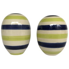 Pair of Early Couture Collection Bud Vases by Jonathan Adler, 1990s