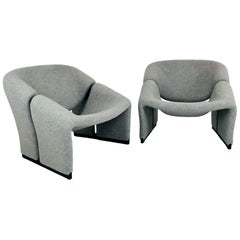 Pair of Early Edition Pierre Paulin Groovy Chairs for Artifort