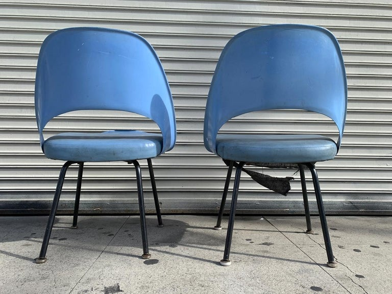 Mid-20th Century Pair of Early Eero Saarinen, Chairs, Model 72 P*PSB For Sale