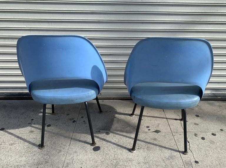 Metal Pair of Early Eero Saarinen, Chairs, Model 72 P*PSB For Sale