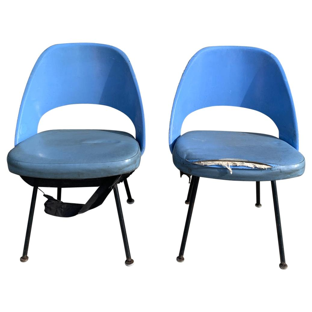 Pair of Early Eero Saarinen, Chairs, Model 72 P*PSB