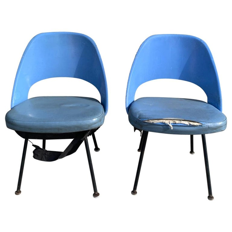 Pair of Early Eero Saarinen, Chairs, Model 72 P*PSB For Sale