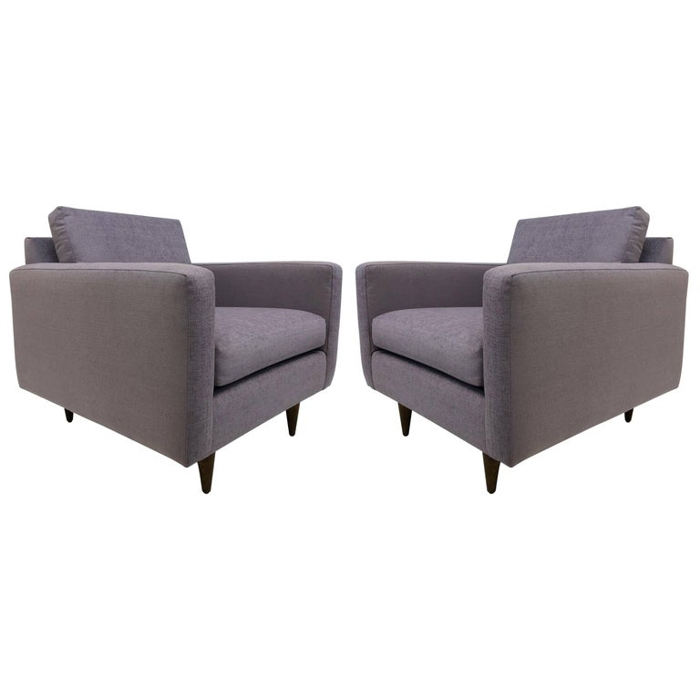 Pair of Early Florence Knoll Lounge Chairs