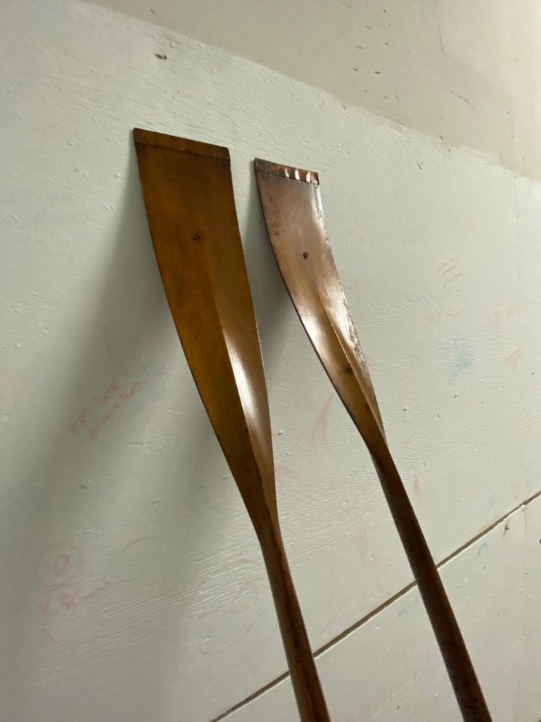 Pair of Early Handmade Crew Oars by NY Boat Oar Company For Sale 1