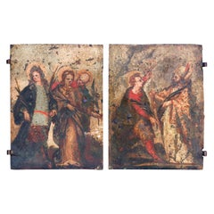 Pair of Early Oil on Copper Paintings