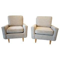 Pair of Early Production Florence Knoll for Knoll Lounge Chairs
