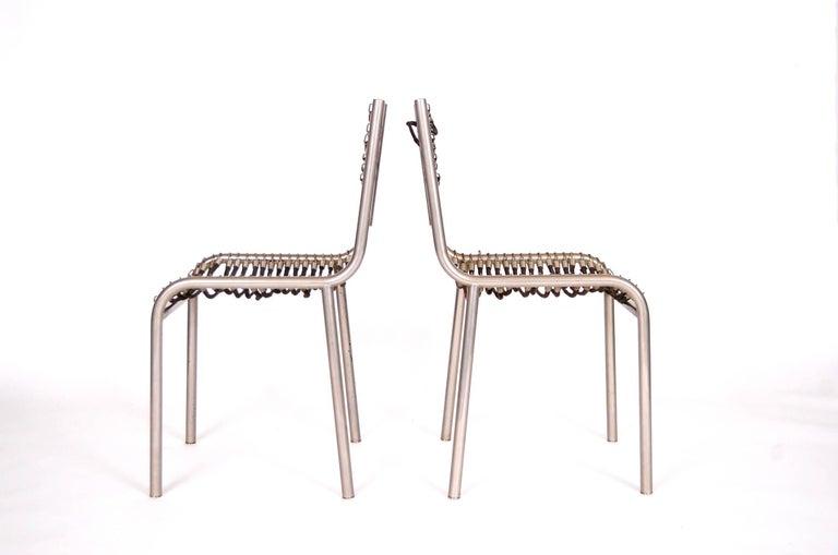 Mid-Century Modern Pair of Early René Herbst Sandows Chairs For Sale