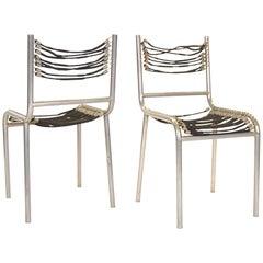 Pair of Early René Herbst Sandows Chairs