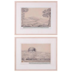 Pair of Early Topographical Drawings of Jamaica