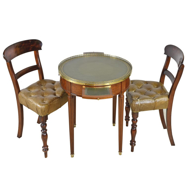 Pair of Early Victorian Mahogany Chairs with Leather Upholstery, England For Sale 10