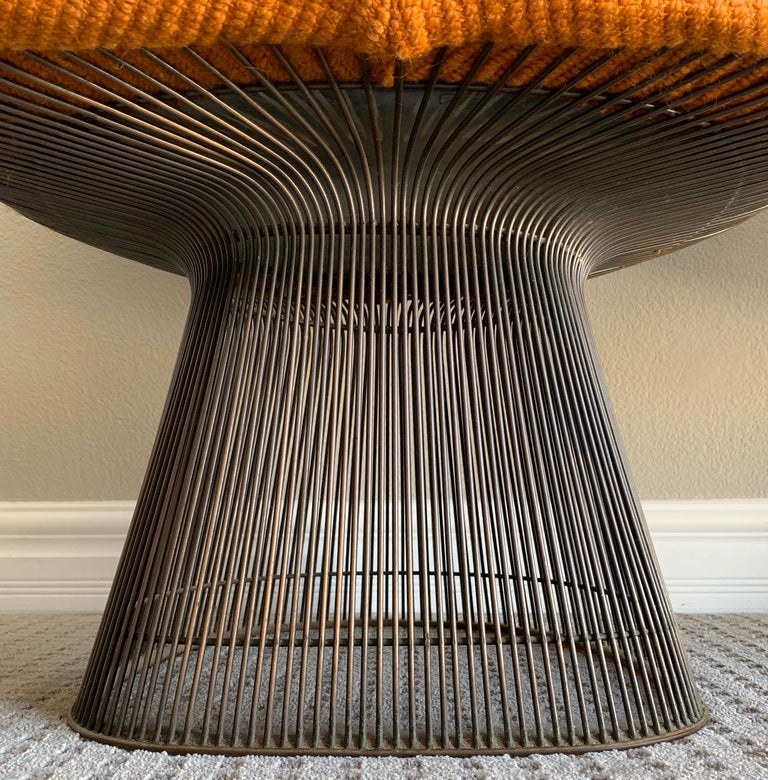 Mid-Century Modern Pair of Early Warren Platner Bronze Lounge Chairs, 1960s For Sale
