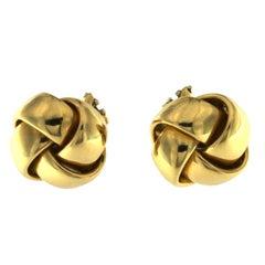 Pair of Earrings Lodden Botton in 18 Karat Yellow Gold