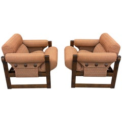 Pair of Eastern Bloc Armchairs by Hikor Písek, 1980s, Czechoslovakia