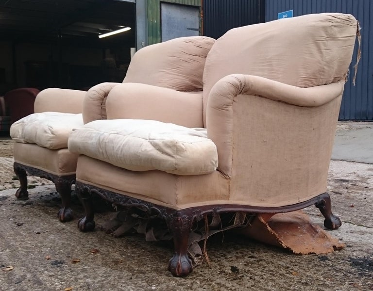 Pair of Easy Armchairs Made by Howard and Sons of London For Sale 3