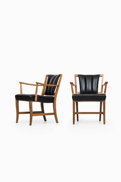 Pair of Easy Chairs / Armchairs Designed by Josef Frank Produced by Svenskt Tenn