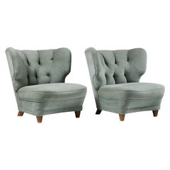 Pair of Easy Chairs, Anonymous, Finland, 1940s