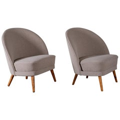 Pair of Easy Chairs Attributed to Arne Norell, Sweden, 1950s