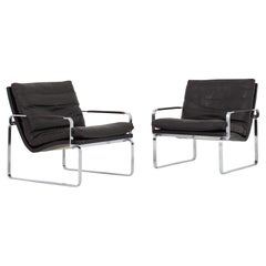 Pair of Easy Chairs BO91 by Ole Lund & Jørgen Larsen