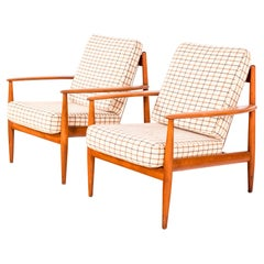 Pair of Easy Chairs by Grete Jalk, Model FD-118, 1950s