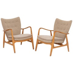 Pair of Easy Chairs by Ib Madsen & Acton Shubell