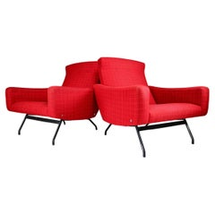 Pair of Easy Chairs by Joseph-André Motte, France, 1950s