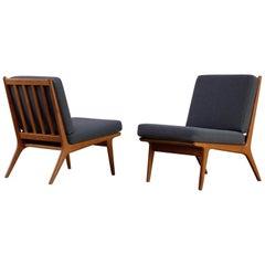 Pair of Easy Chairs by Karl-Erik Ekselius, Sweden, 1960s