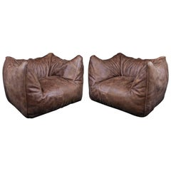 Pair of Easy Chairs by Mario Bellini