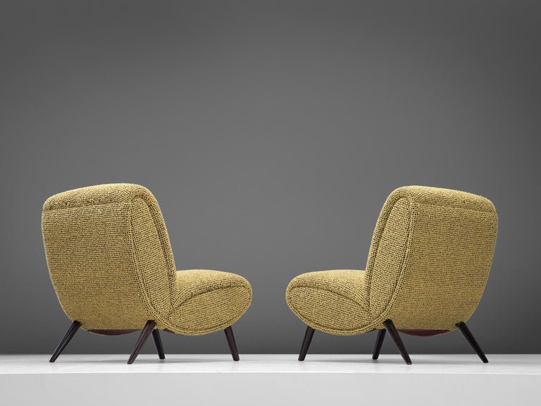 Streamlined Moderne Pair of Easy Chairs by Norman Bel Geddes