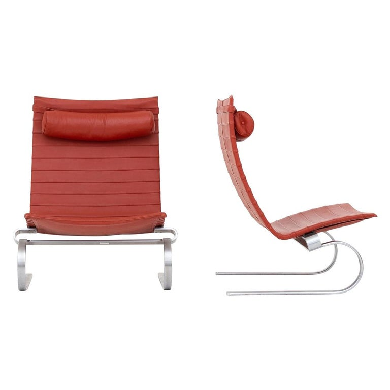 Pair of Easy Chairs by Poul Kjærholm For Sale
