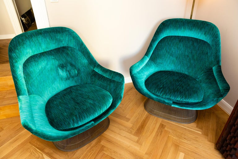 Mid-Century Modern Pair of Easy Chairs by Warren Platner for Knoll, circa 1970 For Sale