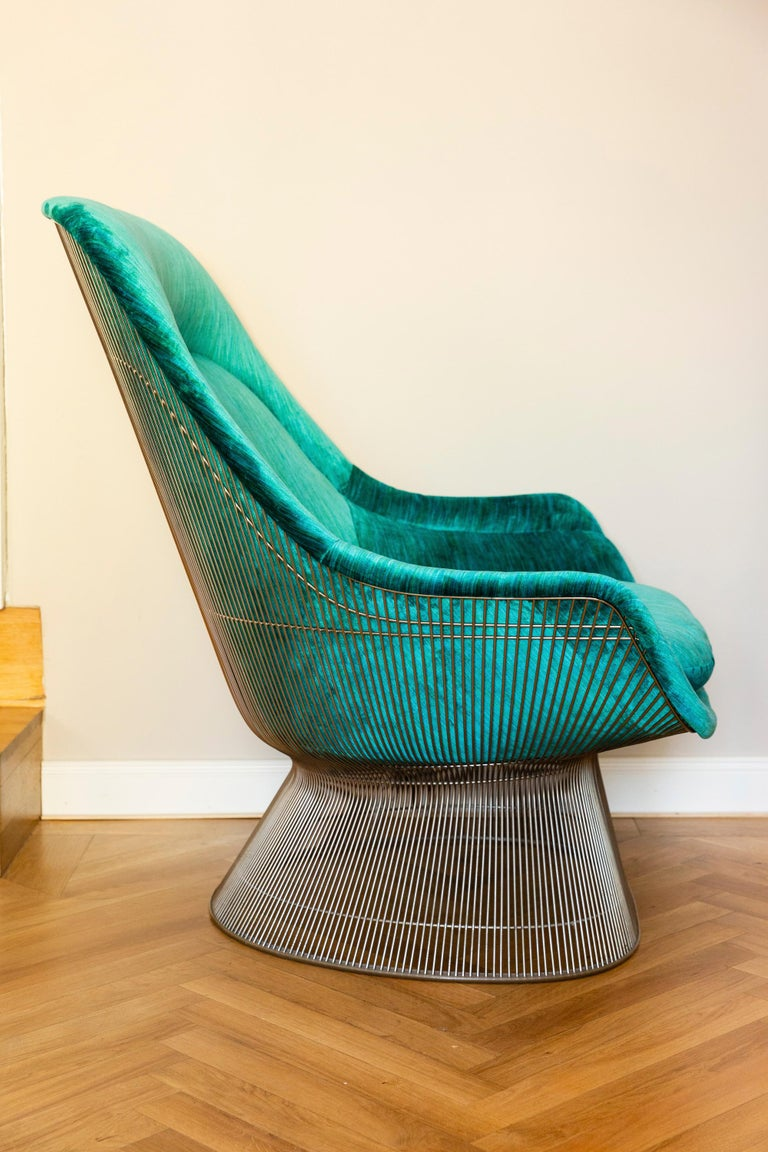 1970s Pair of Easy Chairs by Warren Platner for Knoll, circa 1970 For Sale