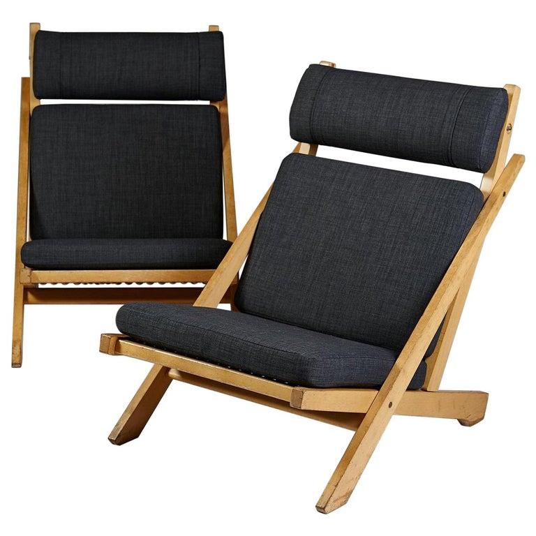 """Pair of Easy Chairs """"CH03"""", Designed by Hans Wegner for Johannes Hansen, Denmark For Sale"""