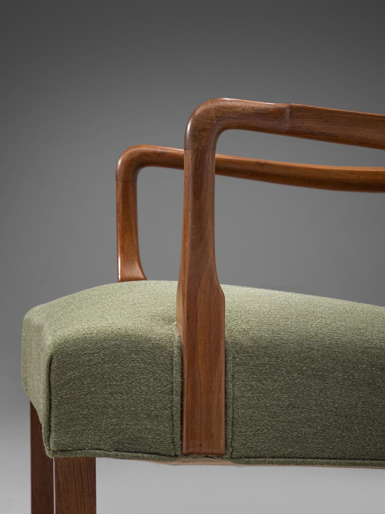 Mid-20th Century Pair of Easy Chairs in Mahogany by Jacob Kjær For Sale