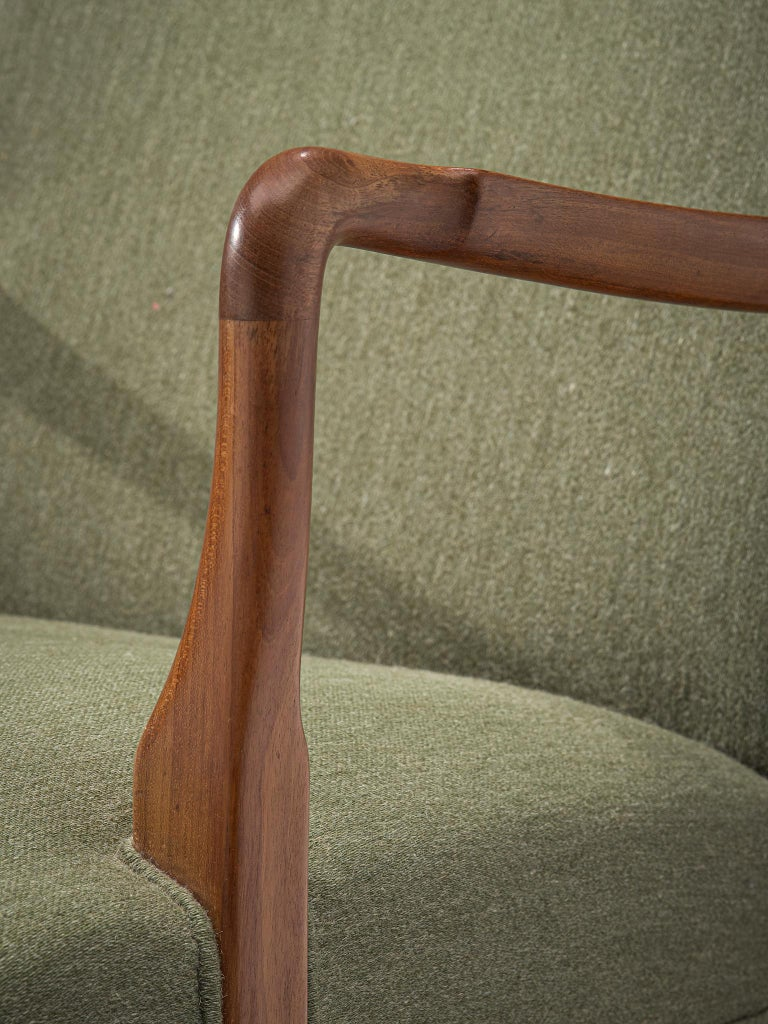 Pair of Easy Chairs in Mahogany by Jacob Kjær For Sale 1