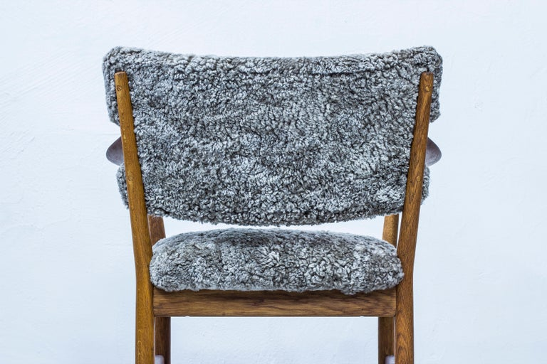 Pair of Easy Chairs with Sheepskin by Fredrik Kayser & Adolf Relling, Norway For Sale 6